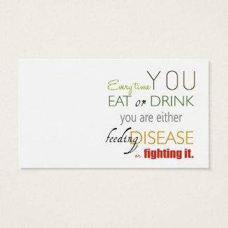 Every Time You Eat Nutrition / Nutritionist Card