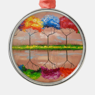 Every tree by its smell metal ornament