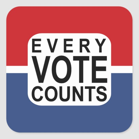 Every Vote Counts sticker