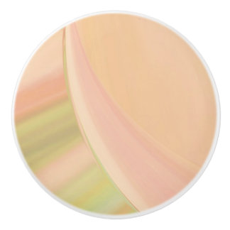 Every Which Way Peach Ceramic Knob
