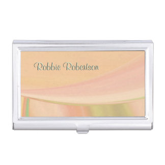 Every Which Way Peach Personal Business Card Holder