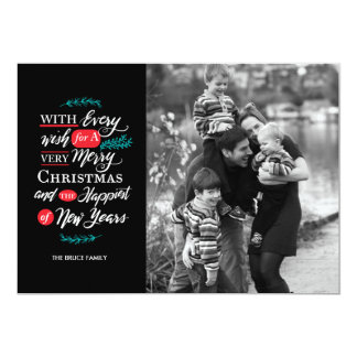 Every wish Paper Holiday Photo Card