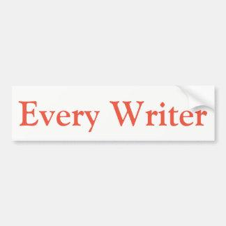 Every Writer bumper Bumper Sticker
