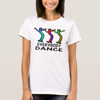 Everybody Dance Balloon Men in Black Hats T-Shirt
