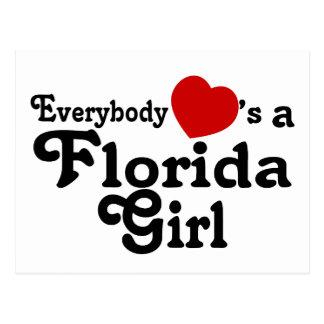 Everybody Hearts a Florida Girl Postcard