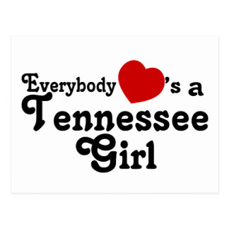 Everybody Hearts a Tennessee Girl Postcard