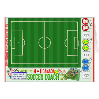 Everybody is a Soccer Coach Strategy Board Canada Card