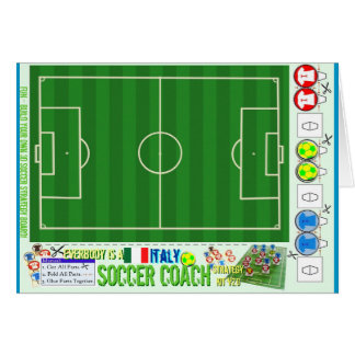 Everybody is a Soccer Coach Strategy Kit Italy Card