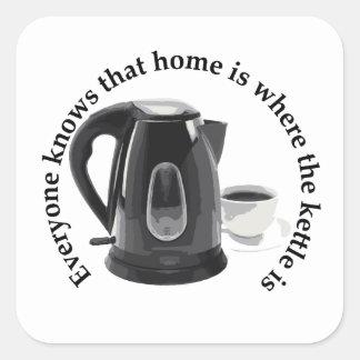 everybody.knows à la maison est où la bouilloire e autocollants carrés