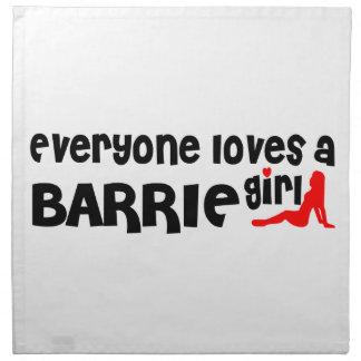 Everybody loves a Barrie Girl Napkin