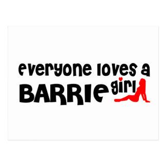 Everybody loves a Barrie Girl Postcard