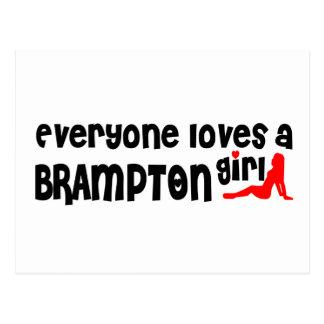 Everybody loves a Brampton Girl Postcard