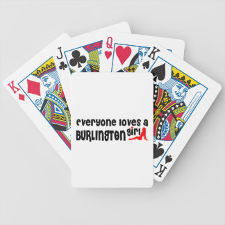 Everybody loves a Burlington Girl Bicycle Playing Cards