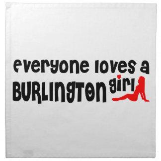 Everybody loves a Burlington Girl Napkin