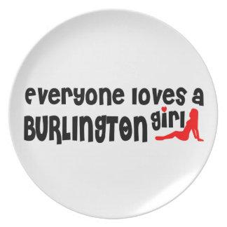 Everybody loves a Burlington Girl Plate