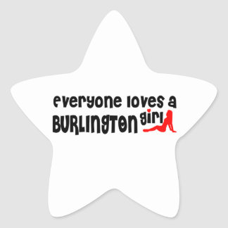 Everybody loves a Burlington Girl Star Sticker