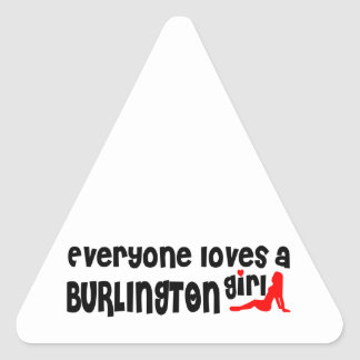 Everybody loves a Burlington Girl Triangle Sticker