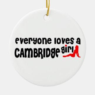 Everybody loves a Cambridge Girl Ceramic Ornament