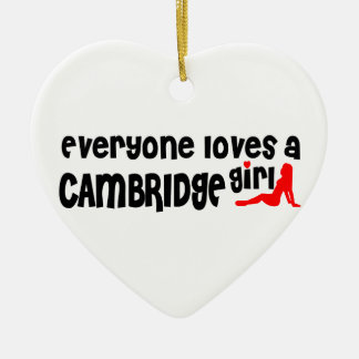 Everybody loves a Cambridge Girl Ceramic Ornament