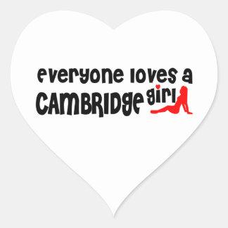 Everybody loves a Cambridge Girl Heart Sticker