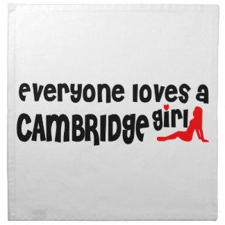 Everybody loves a Cambridge Girl Napkin