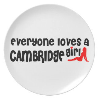 Everybody loves a Cambridge Girl Plate