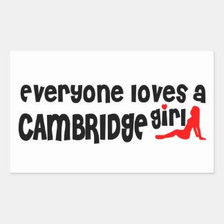 Everybody loves a Cambridge Girl Sticker