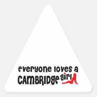 Everybody loves a Cambridge Girl Triangle Sticker