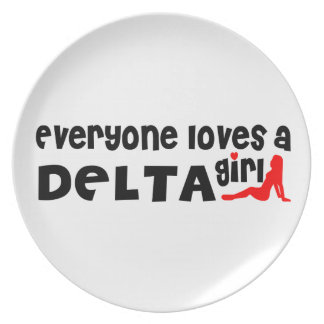 Everybody loves a Delta Girl Plate