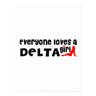 Everybody loves a Delta Girl Postcard
