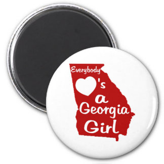 Everybody Loves a Georgia Girl Magnet