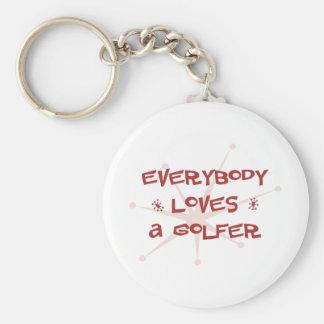 Everybody Loves A Golfer Keychain