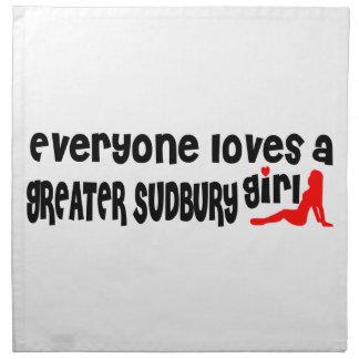 Everybody loves a Greater Sudbury Girl Napkin