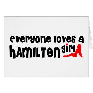 Everybody loves a Hamilton Girl Card