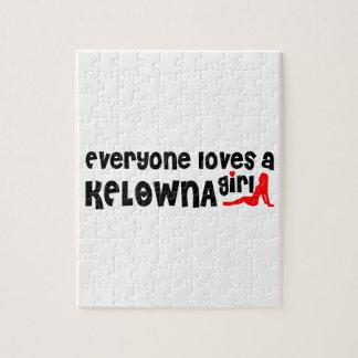Everybody loves a Kelowna Girl Jigsaw Puzzle