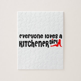 Everybody loves a Kitchener Girl Jigsaw Puzzle