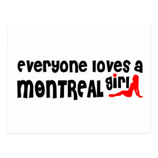 Everybody loves a Montreal Girl Postcard