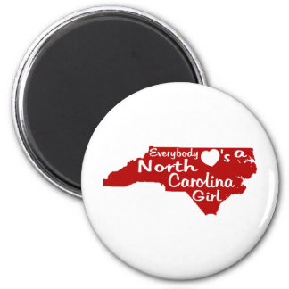 Everybody Loves a North Carolina Girl Red Magnet
