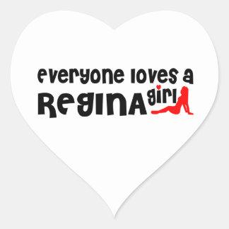 Everybody loves a Regina Girl Heart Sticker