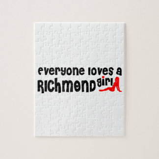 Everybody loves a Richmond Hill Girl Jigsaw Puzzle