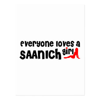 Everybody loves a Saanich Girl Postcard