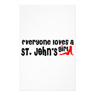 Everybody loves a St. John's Girl Stationery