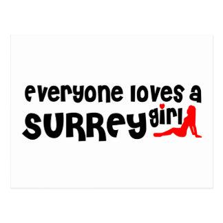 Everybody loves a Surrey Girl Postcard