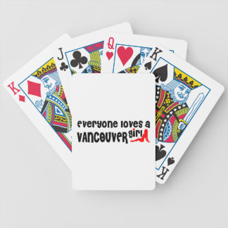 Everybody loves a Vancouver Girl Bicycle Playing Cards