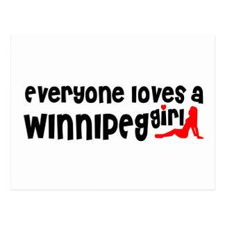 Everybody loves a Winnipeg Girl Postcard