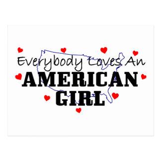 Everybody Loves An American Girl Postcard