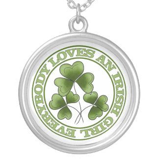 Everybody Loves An Irish Girl Silver Plated Necklace