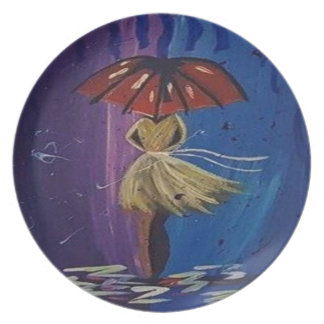 everybody loves the rain party plate