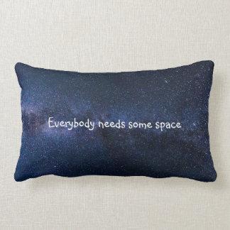 Everybody needs some space lumbar pillow