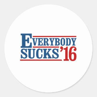 Everybody Sucks 2016 - -  Round Sticker